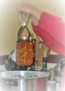 Pulling vegetable soup from the pressure canner