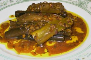 Indian style pickled eggplant Photo by Carole Cancler